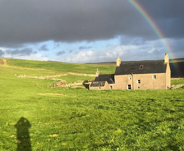 A rainbow over our place on North Uist