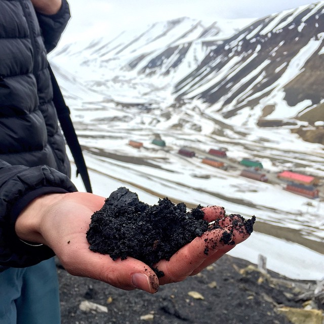 A handful of coal