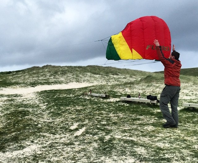 Kite flying on North Uist