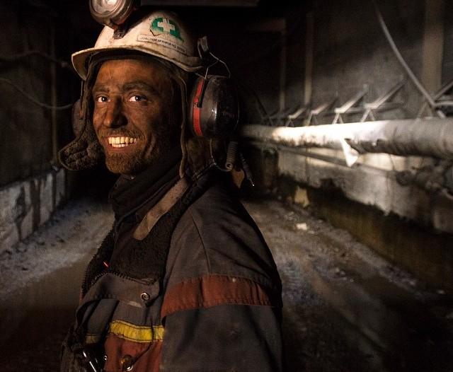 Joachim Myhrvang at the mine opening