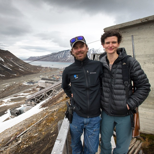 Eric and Jenny at the abandoned mine above Svalbard