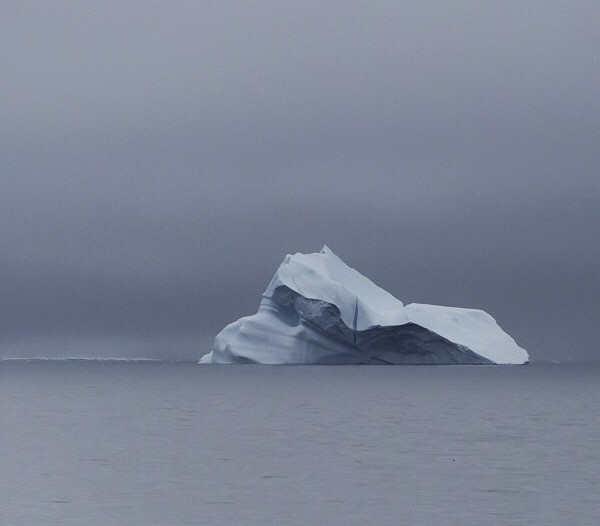 A beautiful iceberg floats in Baffin Bay