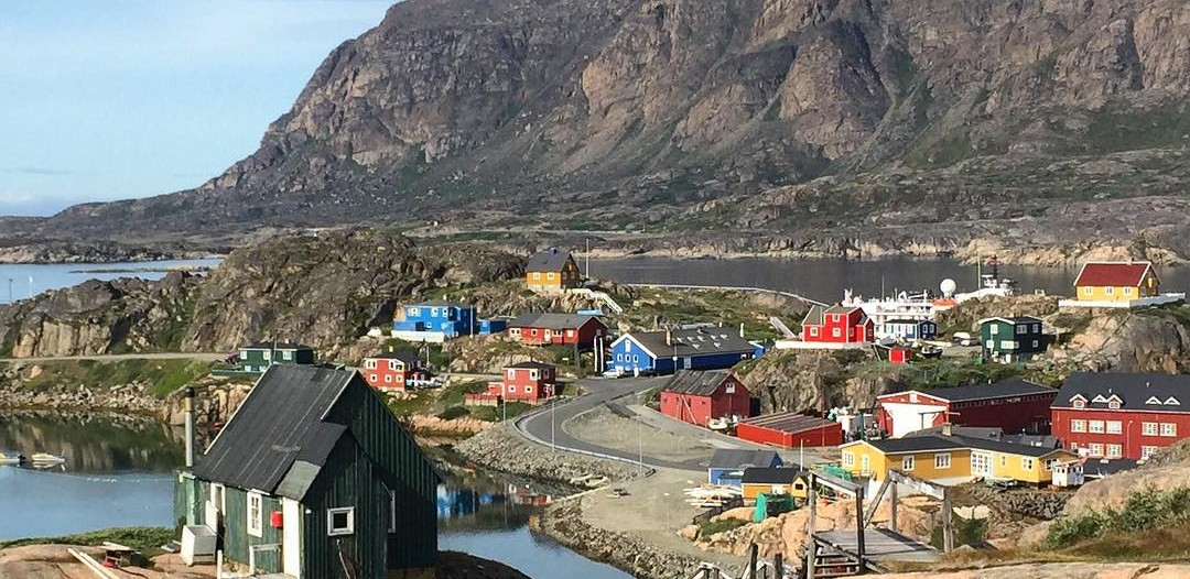 Looking out over the colourful houses of Sisimiut