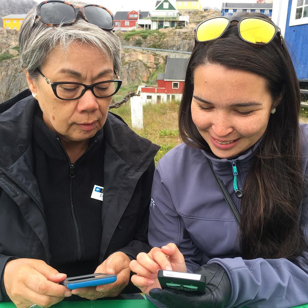 Eva and Tuku network in Sisimiut, Greenland