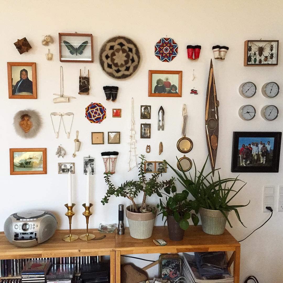 Makka's memory wall displays a variety of artifacts