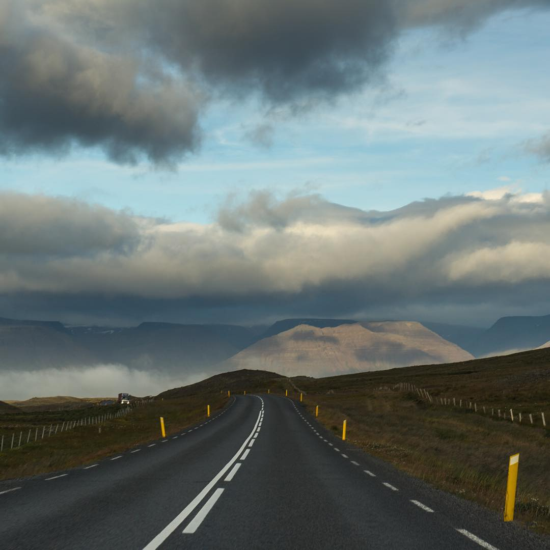 Heading north along Iceland's ring road