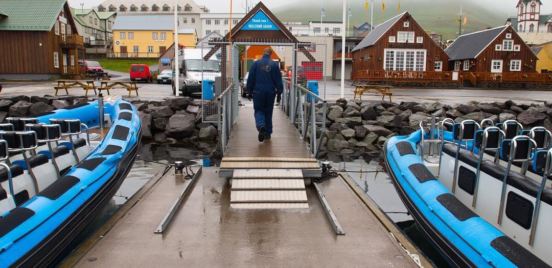 The whale watching dock in Husavik