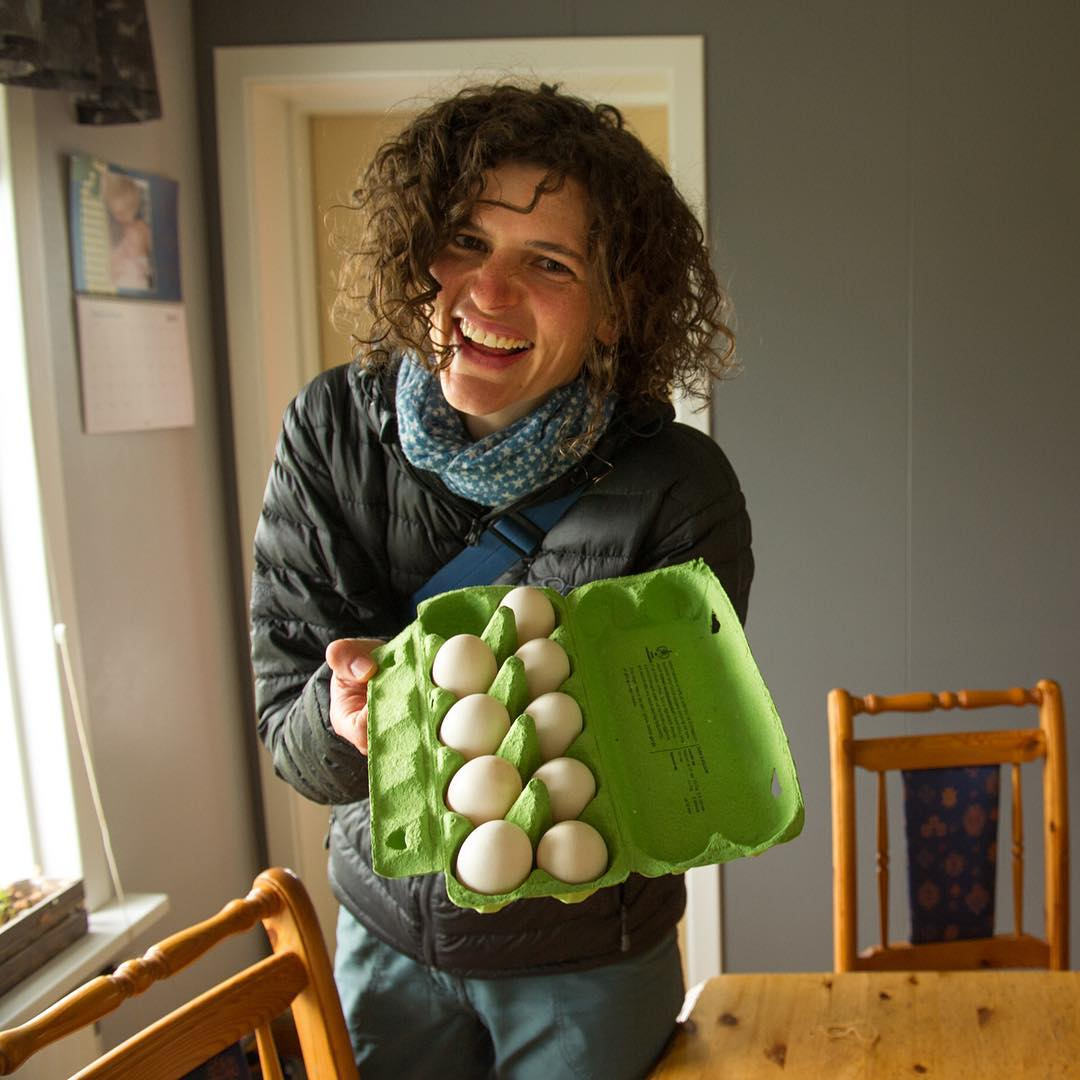 Jenny buys eggs from Leifur