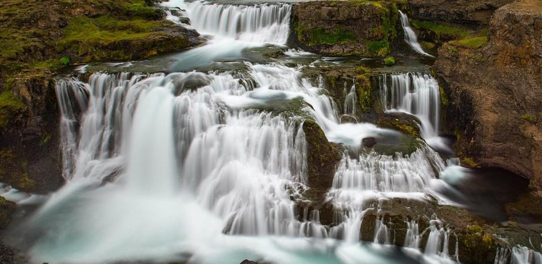 Beautiful falls cascade