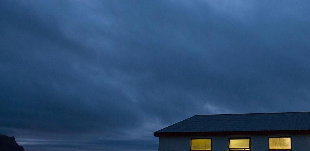 Hraun-Háls barn in the evening light