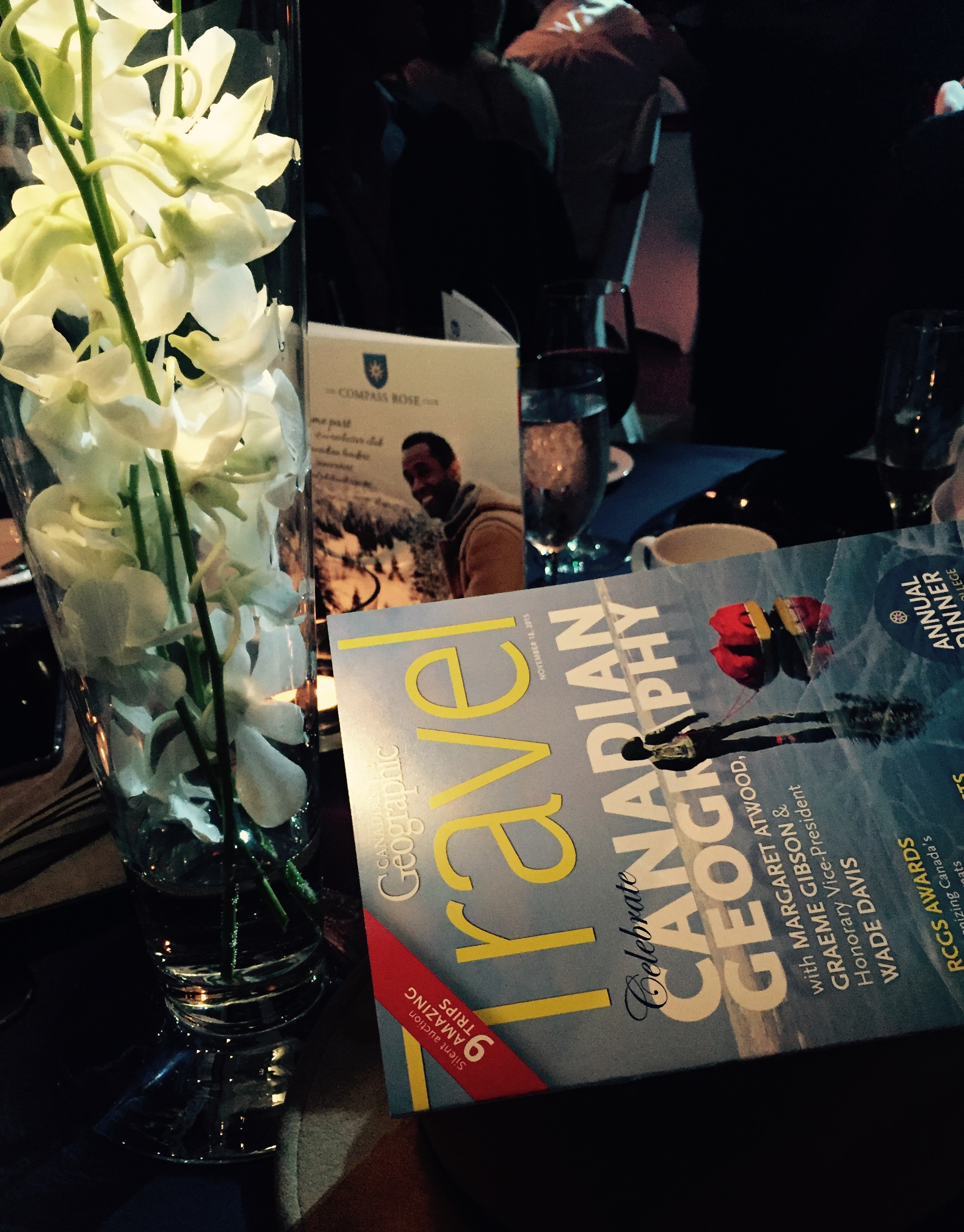 A table set at the RCGS Annual dinner