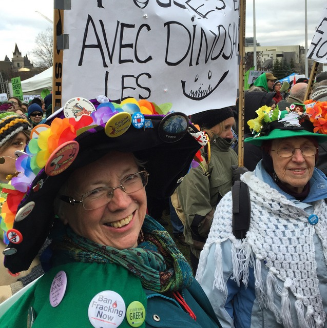 Raging Grannies at Ottawa's climate march