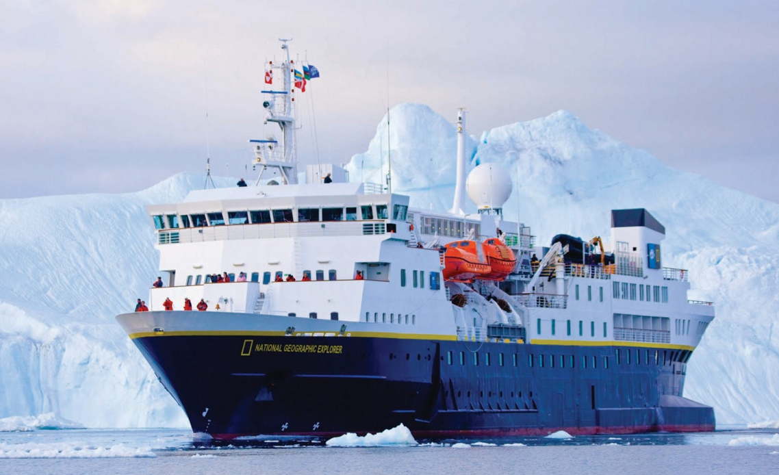 The National Geographic Explorer ship in Antarctica