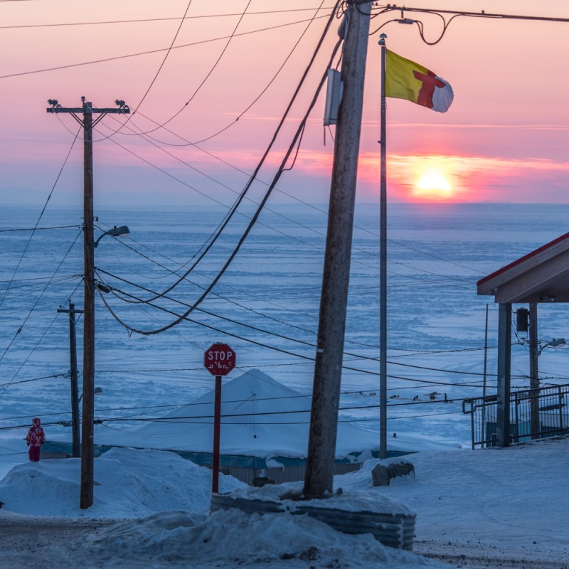 Sunset over Pond Inlet