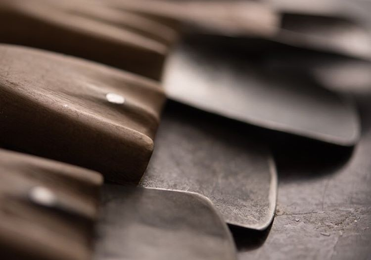 A closeup of traditional crafting tools.