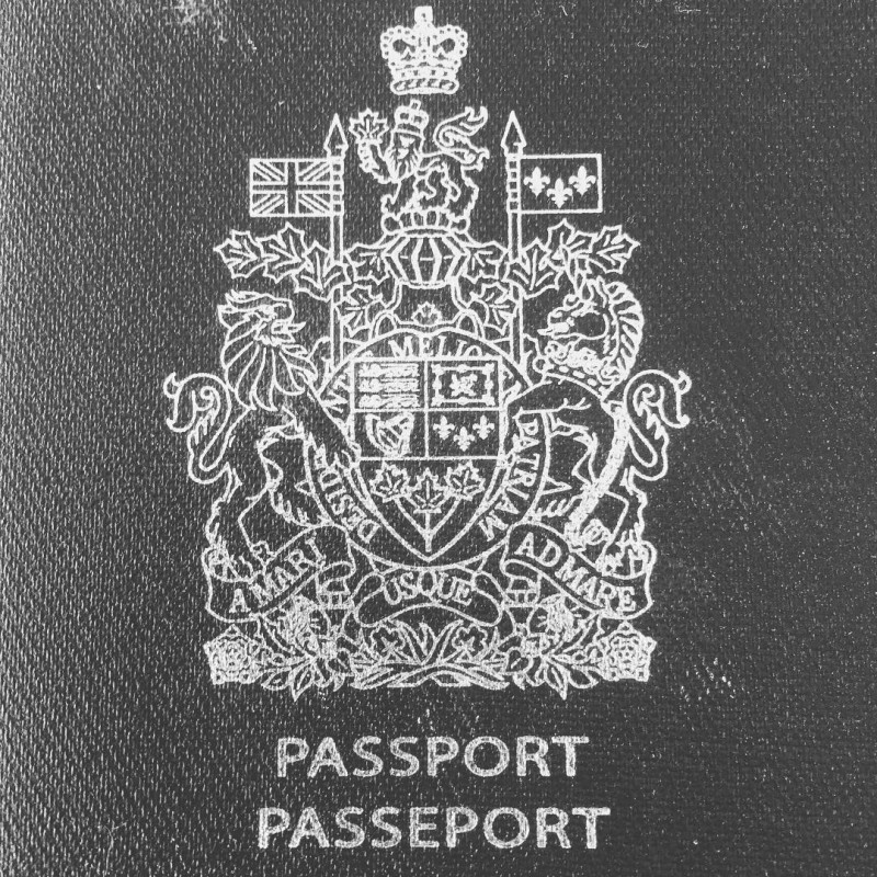 The cover of a Canadian passport.