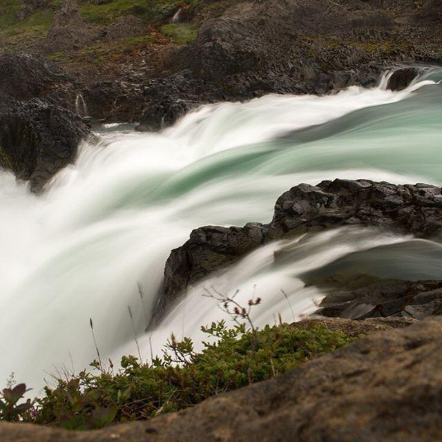 An Icelandic waterfall.