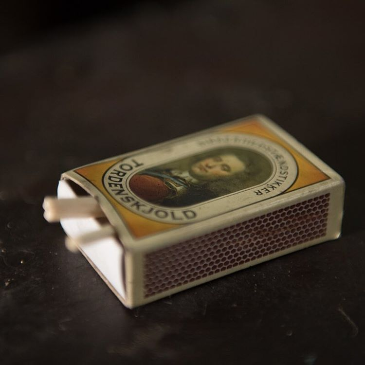 A closeup of a matchbox.