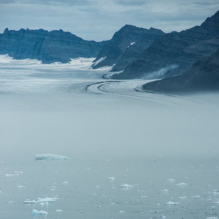 A beautiful, grey landscape in East Greenland.