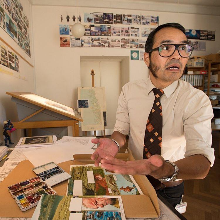 Nuka K. Godtfredsen, the creator of a graphic novel series on Greenland's history.