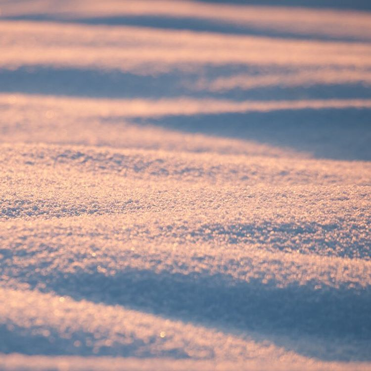 Glittering snow.