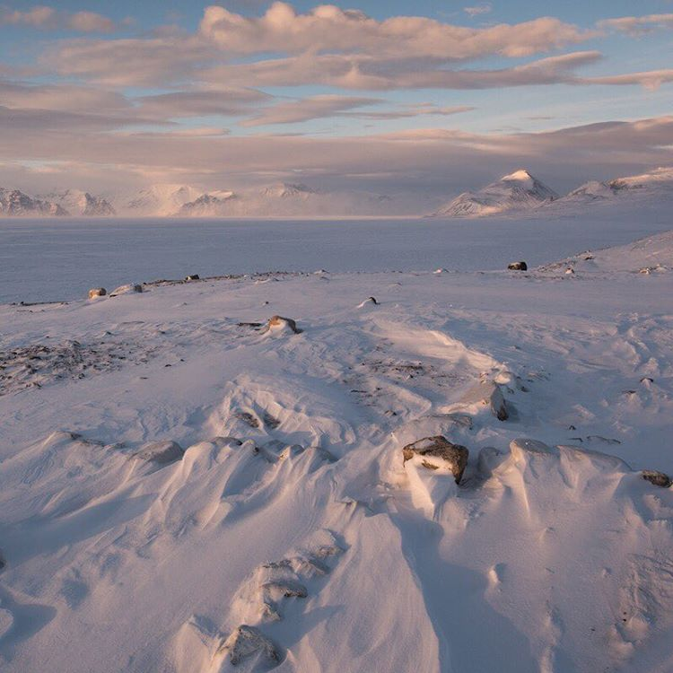 Snow on Baffin Island.