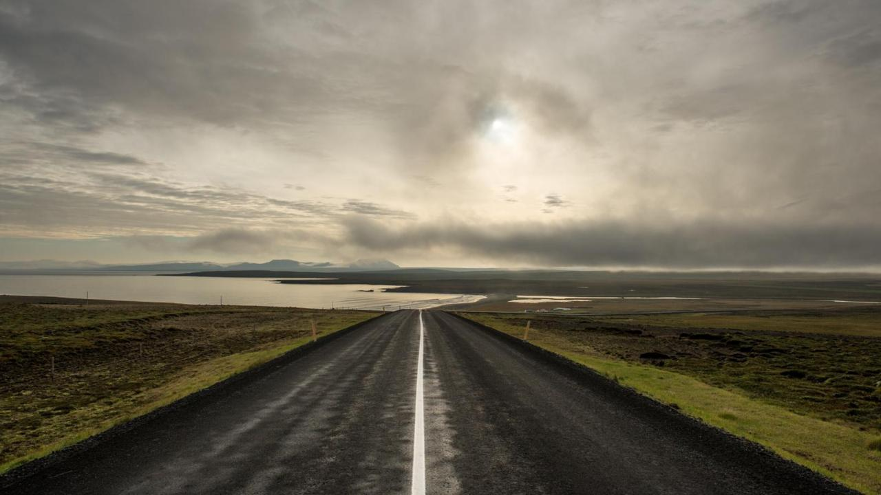 A road in northeast Iceland.
