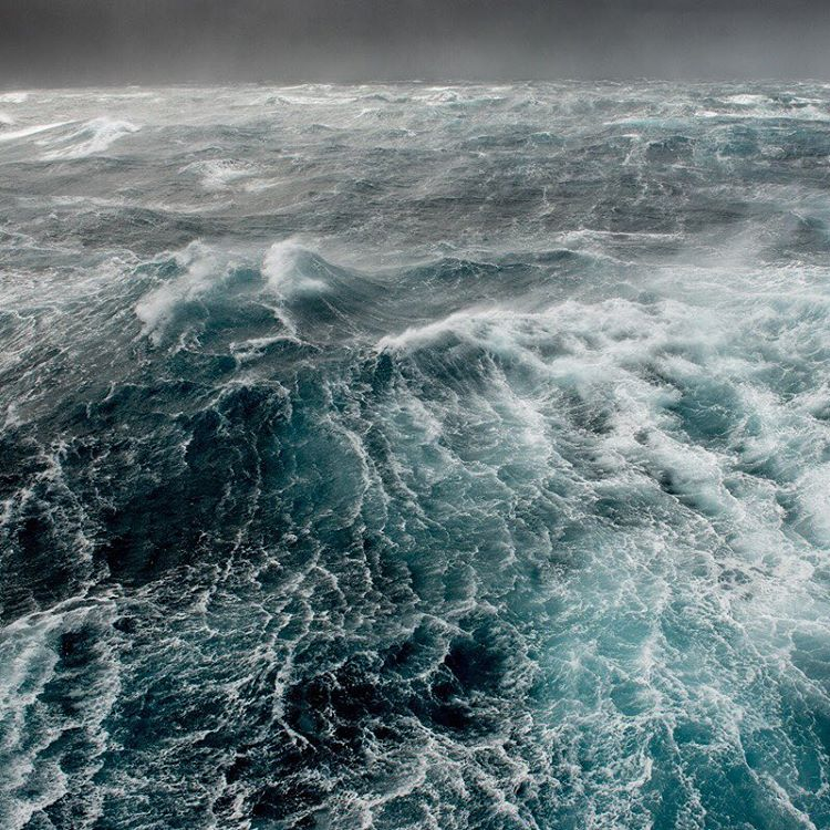 Beautiful, turbulent waters in the Drake Passage.