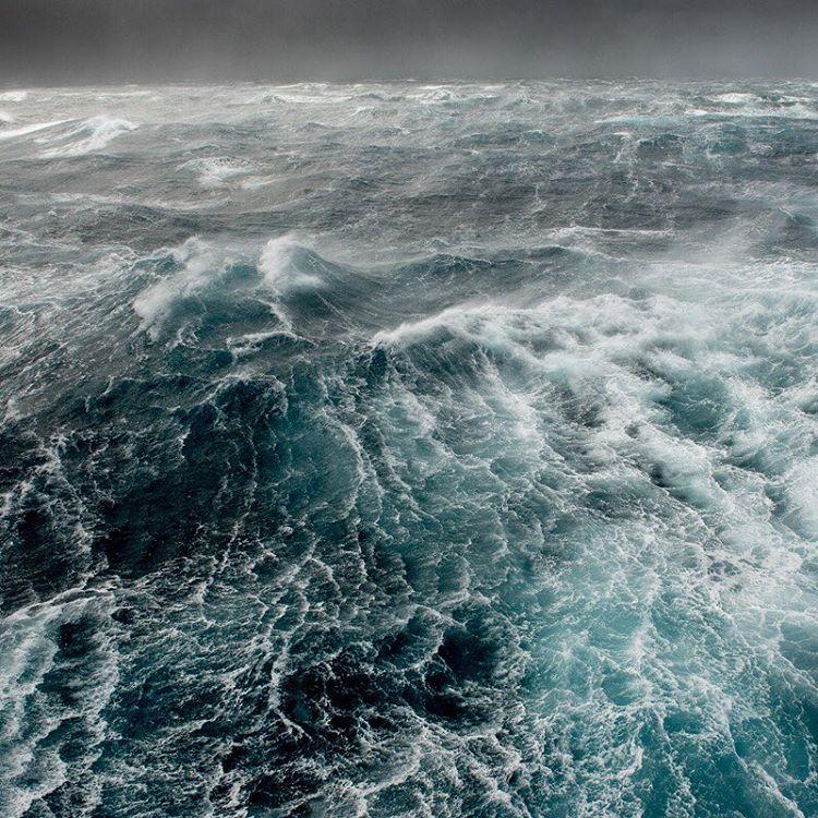 Beautiful, turbulent waters in the Drake Passage.