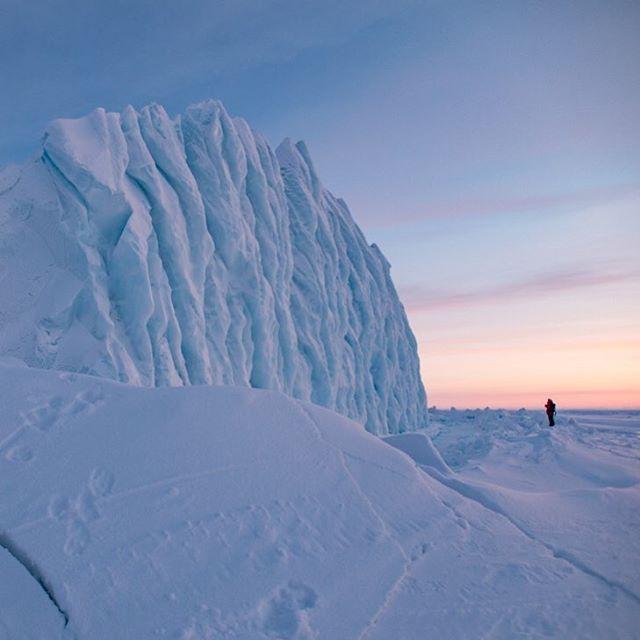 An iceberg on Baffin Island.