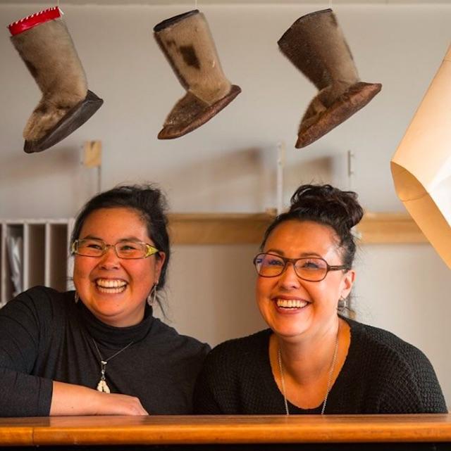 Pilunnguaq Kleist and Nikoline Kreutzmann teach at Kalaallisuuliornermik Ilinniarfik, the School of National Clothing Education in Sisimiut.