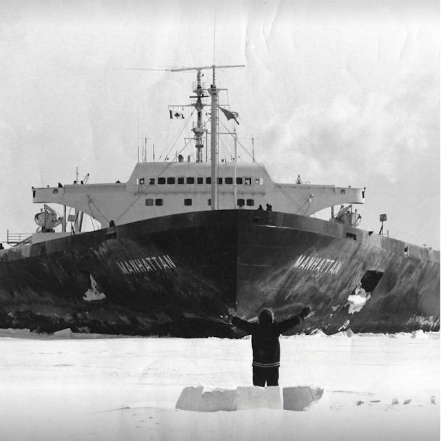 When the SS Manhattan, the first oil tanker ever to cross the Northwest Passage, came through Pond Inlet in 1969, Joseph Komangapik went out in front of it and began to build an igloo.