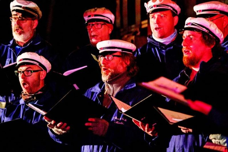 At the Store Norske Men's Choir's annual concert, these men honour the coal mining tradition that founded their community in 1905.