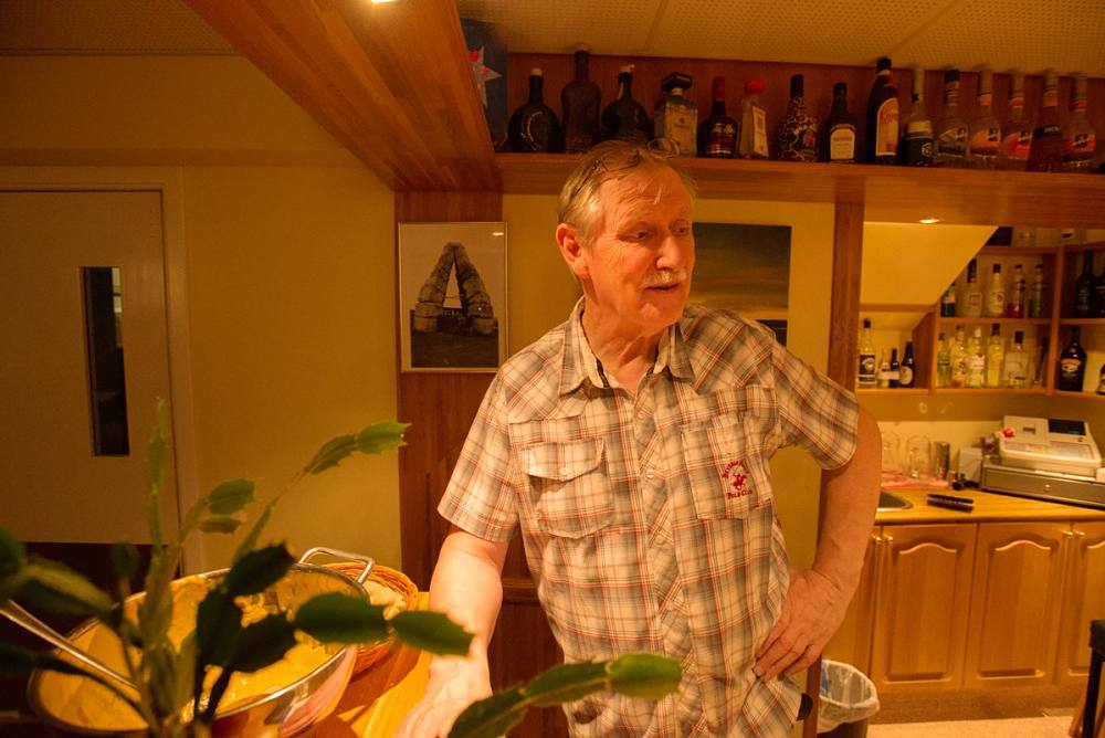 Erlingur B. Thoroddsen in the hotel he manages in Raufarhöfn.