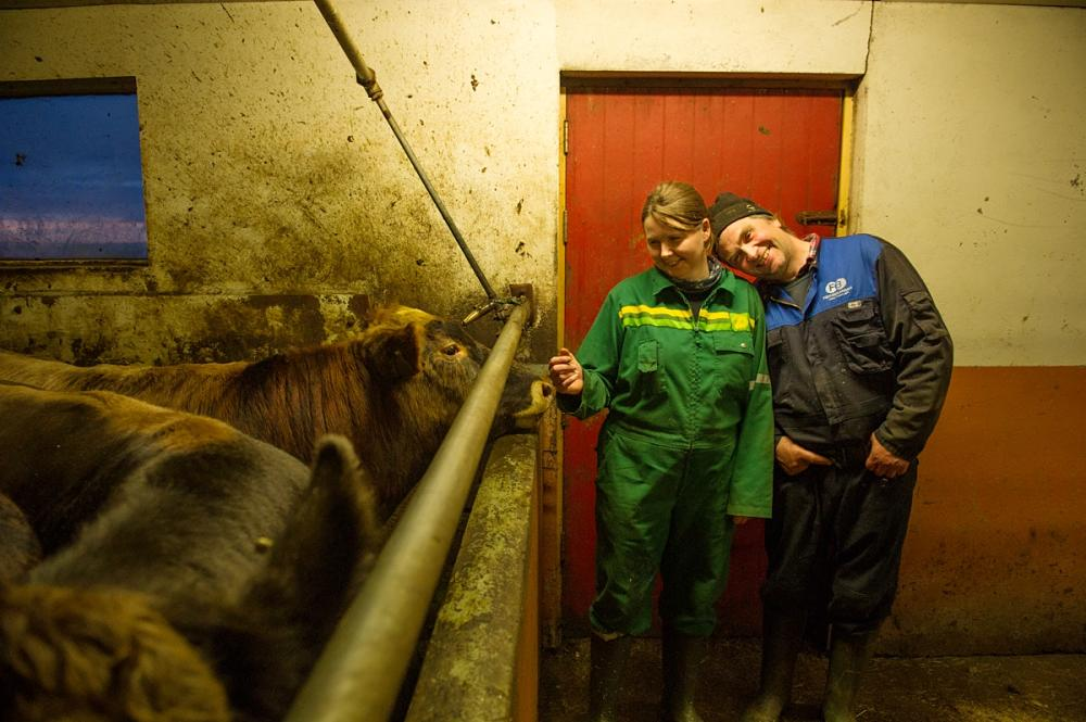 Gudlaug Sigurdardottir and Johannes Eyberg Ragnarsson enjoy life together and time with their animals.