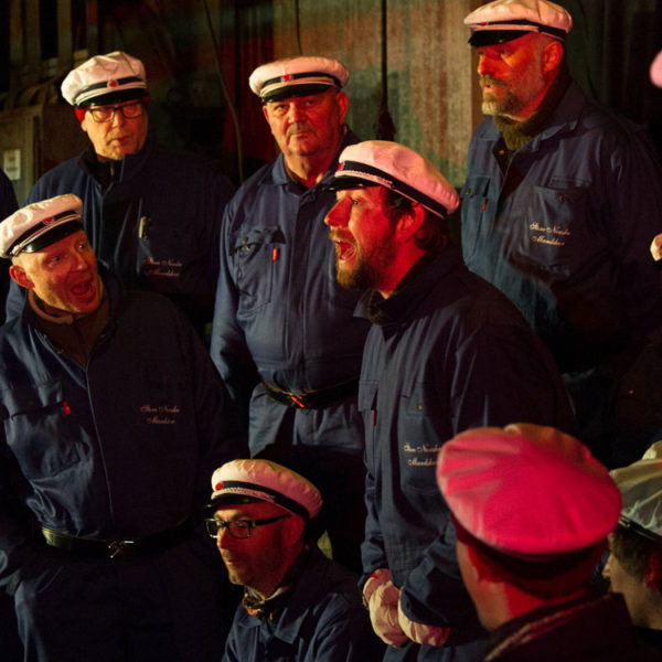 The Store Norske Men's Choir of Longyearbyen.
