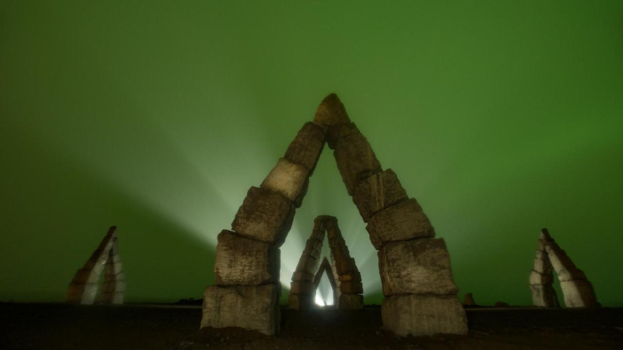These are part of an installation called Arctic Henge.
