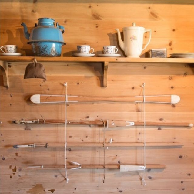 Hunting tools and tea mugs in Greenland.