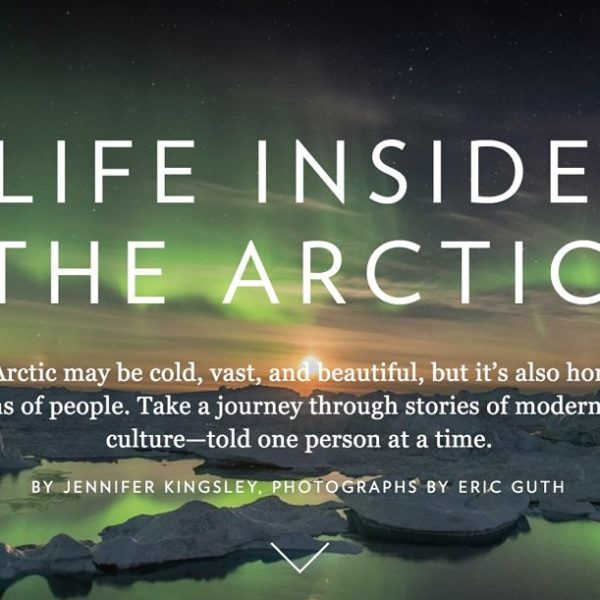 Life Inside the Arctic title page for National Geographic.