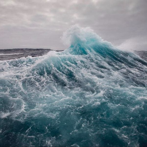 Stormy seas in Antarctica.
