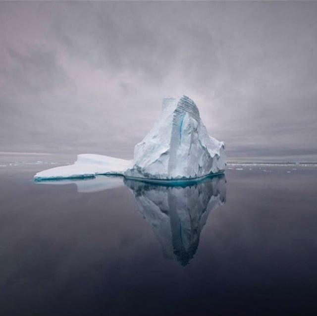 An iceberg in Antarctica.