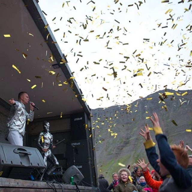 A concert in Iceland.
