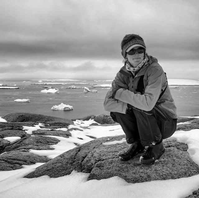 Jenny in Antarctica.