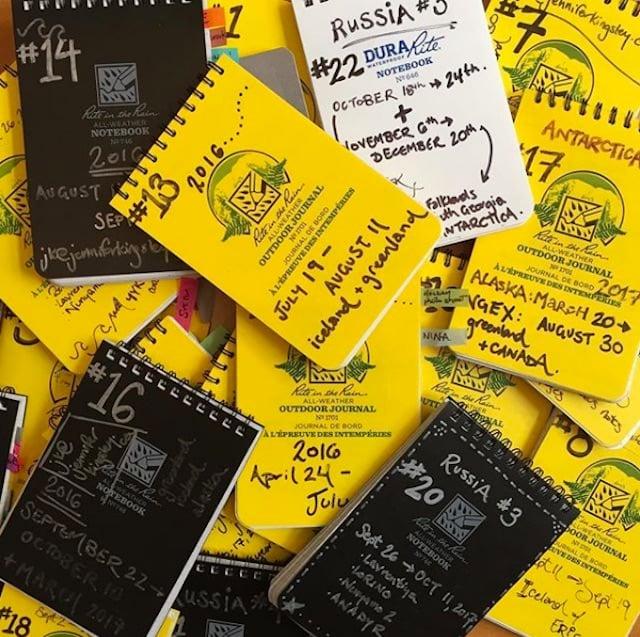 A pile of Jenny's notebooks.