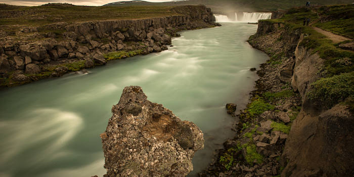 Godafoss waterfall, northern Iceland.