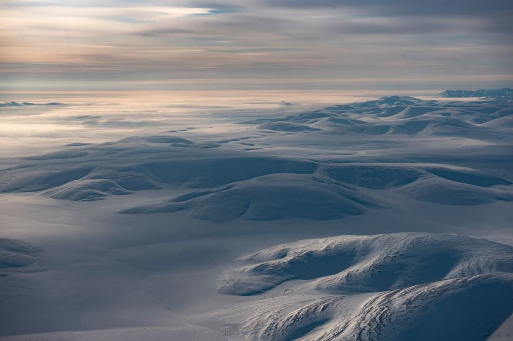 An aerial view of arctic Alaska.