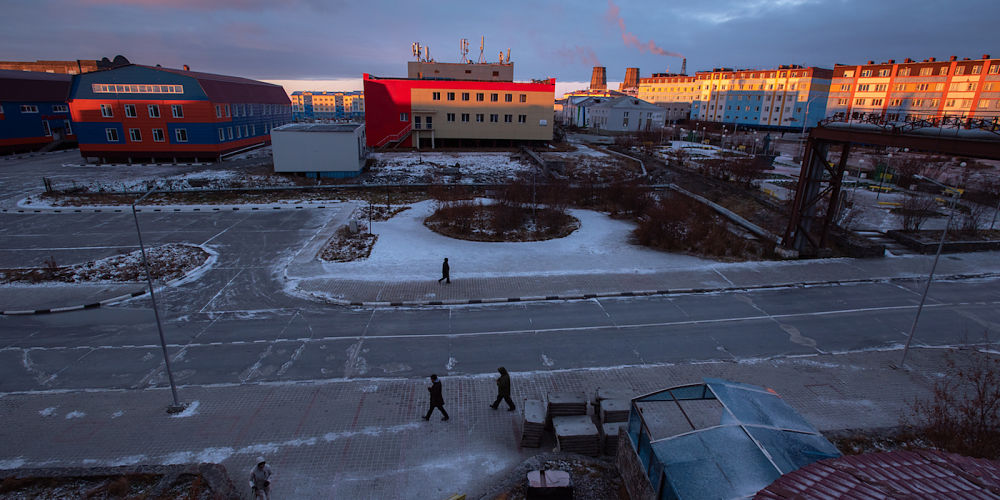 Like most residents in Anadyr, Svetlana and Larisa live in apartment buildings.